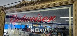 VINTAGE (Circa 1978) LARGE BUDWEISER BAR ROOM WALL MIRROR PRE-OWNED