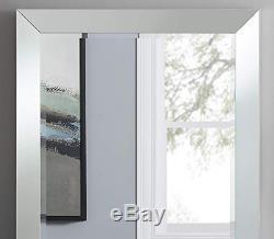 Vanity Wall Mirror Large Bathroom Dressing Bedroom Mirror Frame Bevel Silver