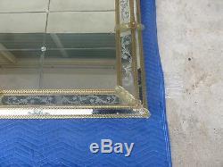 Very Fine Large Venetian Wall Mirror