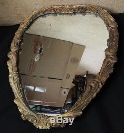 Very Unique Antique Large Wood Wall Mirror (Galax Va Sept 1947)