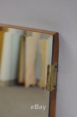 Vintage 32x52 Beveled Glass Large Mirror Sofa Wall Frameless Mid Century Modern