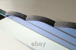 Vintage Antique ART DECO Blue Cobalt Beveled LARGE WALL MIRROR 36x23