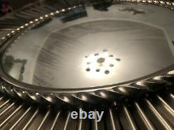 Vintage Global Views 39 Large Sunburst Mirror Silver Nickel Rare