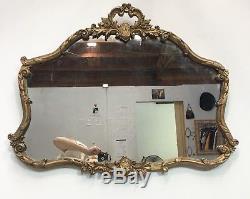 Vintage Gold Mirror Large Rectangular Rogan Wall Mirror Antique Buffet