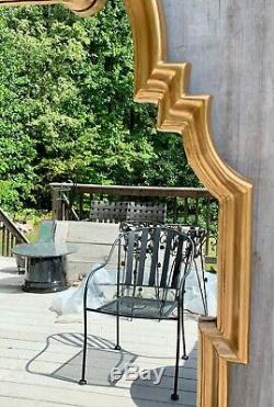 Vintage La Barge Italian Hollywood Regency Large Gold Gilt Wood Wall Mirror 60s