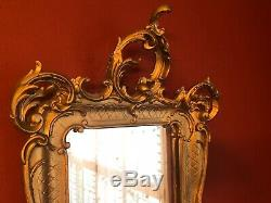 Vintage Large Carved MIRROR GOLD Gesso Antique ORNATE Wall GORGEOUS