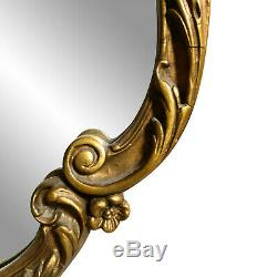 Vintage Large French Louis XV Rococo Gold Ornate Floral Motif Wall Mirror 2x3