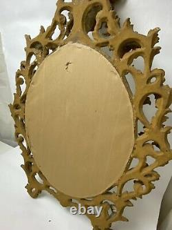 Vintage Large Rococo Style Hand Carved Gilt Wood Wall Mirror Approx 3 X 2 Wow