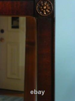 Vintage Large Solid Wood 35x47 Rectangle Framed Wall Mirror $969