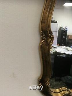 Vintage Large Wall Mirror Matt Gold Gilt 26.5x 43