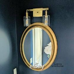 Vintage Large Wall Mirror Rustic Golden Vanity Bathroom Mantel Bedroom Entryway