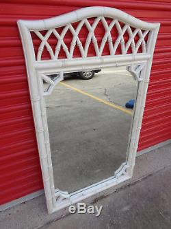 Vintage Thomasville Allegro Large Faux Bamboo Wall Mirror Chinese Chippendale
