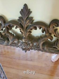 Vtg Large TURNER Ornate Floral Wall Mirror Hollywood Regency