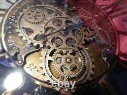 Wall Clock Extra Large MovingClockwork Quartz Venetian Mirror Metal Modern 59cm