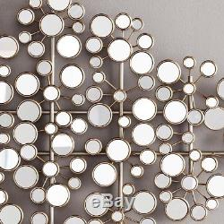 Wall Decor Mirror Metal Art Home Sculpture Abstract Hanging Mirrors Modern Large