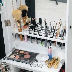 Wall Door MountedJewelry Box Organizer Mirror Armoire Large Jewelry Cabinet