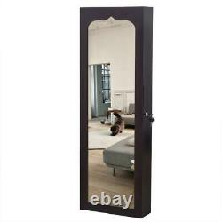 Wall Door Mounted Jewelry Cabinet Armoire Large Jewelry Box Organizer Mirror