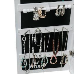 Wall Door Mounted Jewelry Cabinet Armoire Large Mirror Jewelry Box Organizer