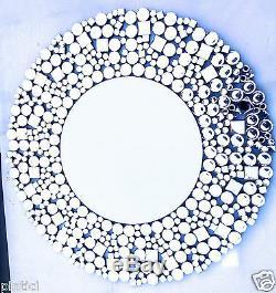 Wall Mirror Round XXL Glass Modern Floor Mirror 90x90 Mirror Without Frame Large