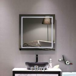 Wall Mounted Mirror Bathroom Vanity Large 32x32 Led Lighted Mirror Home Decor