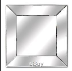 Wholesale X15 Square Wall Mirror 55cm x 55cm Beveled Glass Classic Mitre Edge