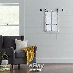 Window Mirror Wall Barn Large Pane Wood Rustic Distressed White Vintage Decor