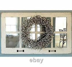 Window Pane Mirror, Large Rectangle Rustic Farmhouse Wall Decor, Reclaimed Wood