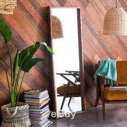Wood Floor Leaner Mirror Large Full Length Leaning Wall Woodgrain Home Bedroom