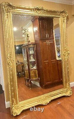 XL Large Estate Carved Gold Framed Mirror Wall Hanging Floor 86 X 62