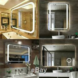 XX-Large LED Illuminated Wall Bathroom Make Mirror Demister Vertical Magnifier