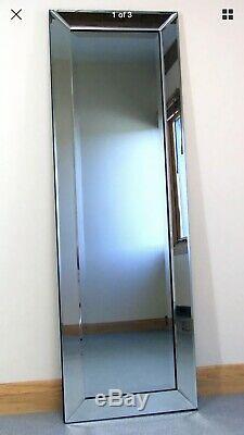 X Large Modern Frameless Wall Leaner Full Length Floor Mirror 70 x 30