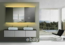 Yukon ORCHID-48''x28'' Large LED Lighted Wall Mounted Rectangle Bathroom Mirror